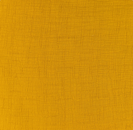 Snoozy fabrics Bamboe Hydrofiel mosterd