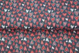 Stenzo Katoen Tricot Sketch hearts