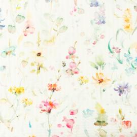Snoozy fabrics Baby waffle wilde bloem