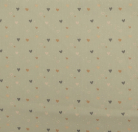 Poplin Hearts dots