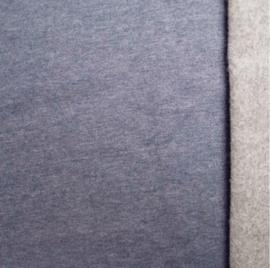 Brushed tricot Jeans melange