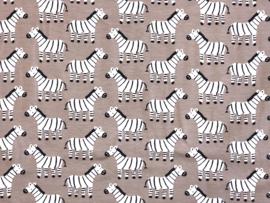 Organische katoen tricot Zebro