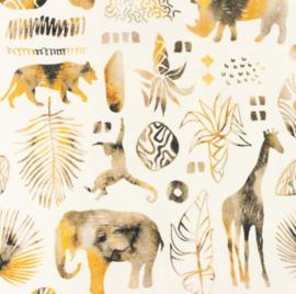 Snoozy fabrics Tricot digitaal bedrukt Africa