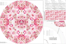 Stenzo tricot Panel meisjesrok flamingo