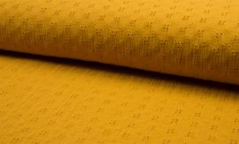 Qjutie hydrofiel Embroidery oker
