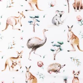 Snoozy fabrics Poplin Wallaby
