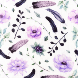 Snoozy fabrics Hydrofiel Tropische bloem