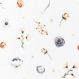 Snoozy fabrics Hydrofiel Mix bloemetjes