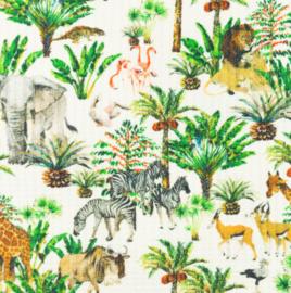 Snoozy fabrics Baby waffle Jungle