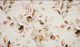 Qjutie organische french terry flowers dusty
