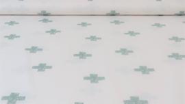Katoen met kruisjes