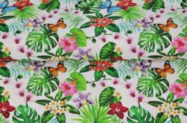 Stenzo poplin Tropical flowers