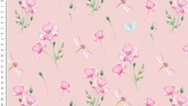 Tricot Aquarel poppy