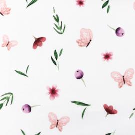 Snoozy fabrics Poplin Lente bloemetjes
