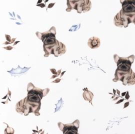 Snoozy fabrics Poplin Digital Frenchie