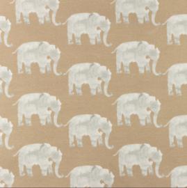 Snoozy fabrics Tricot Olifant sand