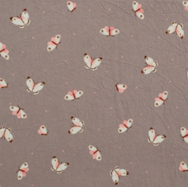 Krinkel katoen Butterflies dot