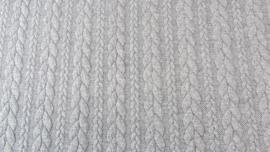 Kabelstof grof  Licht grijs