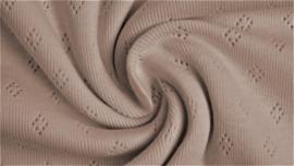 Katoen Fijn gebreid Ajour  Sand