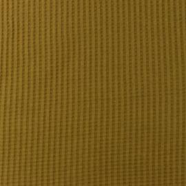 Snoozy fabrics Wafel jersey Olijf