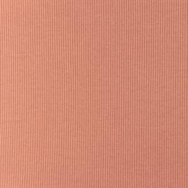 Snoozy fabrics Rib jersey Donker zalm