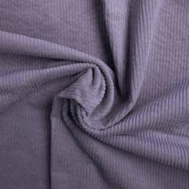Gewassen ribcord Lavendel