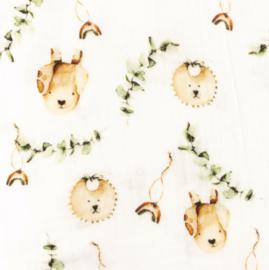 Snoozy fabrics Hydrofiel Bear
