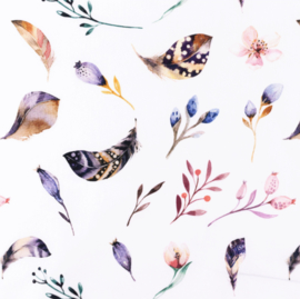 Snoozy fabrics Poplin Digital printed mix violet