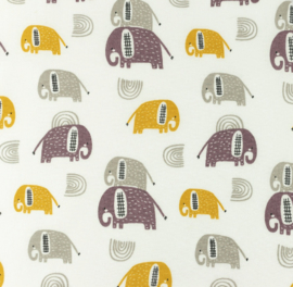 Snoozy fabrics Poplin Olifantje