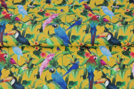 Stenzo poplin Tropische vogeltjes