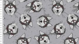 Zomerjogging met wellness fleece Brushed wolves grijs