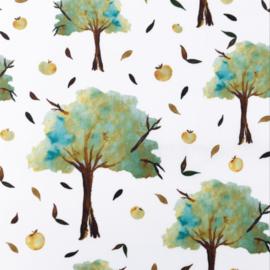 Snoozy fabrics Poplin Appelboom turqouise