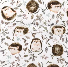 Snoozy fabrics Poplin digital Egeltjes