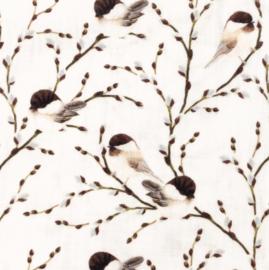 Snoozy fabrics Hydrofiel Birds branch