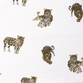 Snoozy fabrics Poplin digital Jaguar klein