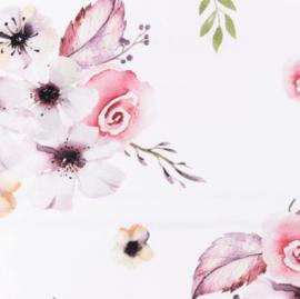 Snoozy fabrics Poplin Flowers grof