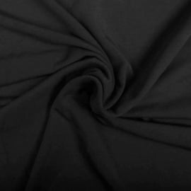 Bamboe tricot Zwart