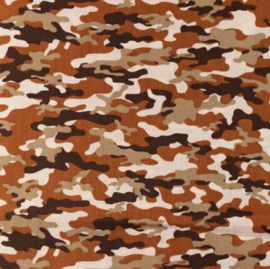 Snoozy Poplin bedrukt camouflage