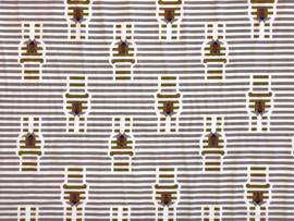 Organische katoen tricot stripes & lions