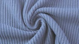 Gebreid katoen GROF jeansblauw