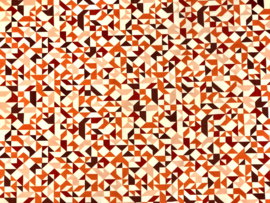 COUPON Tricot Graphics in color brique