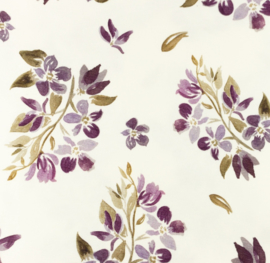 Snoozy fabrics Tricot digitaal Freya mauve GROF
