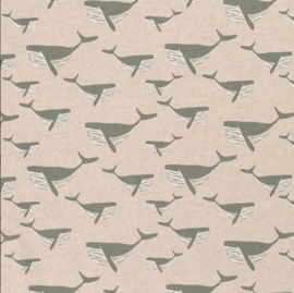 Deco stof linnenlook walvis khaki
