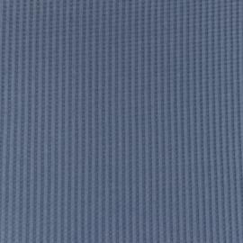 Snoozy fabrics Wafel jersey Jeans blauw