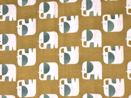 Organische katoen tricot Elephants