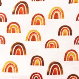 Snoozy fabrics Hydrofiel Regenboog roest