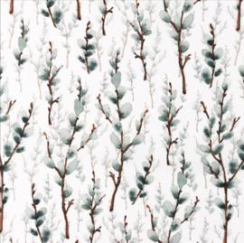 Snoozy fabrics Poplin digital marsh takje