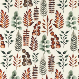 Snoozy fabrics Tricot digitaal bedrukt Blad