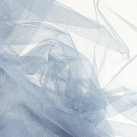 Soepele tule/ mesh IJsblauw