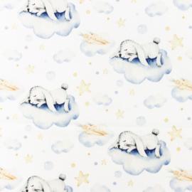 Snoozy fabrics Poplin digital Sleepy rabbit